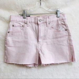 "GAP Light Pink High Rise 3"" Denim Shorts"